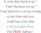 Is your data backed up ?  Time Machine set up ?  Your hard drive can go wrong  at any time and you  could lose your data Call an expert Now For FREE Advice !